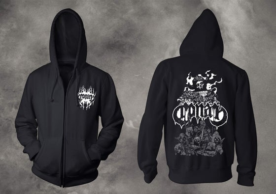 Image of EXISTENTIAL VOID GUARDIAN ZIPPER HOODIE