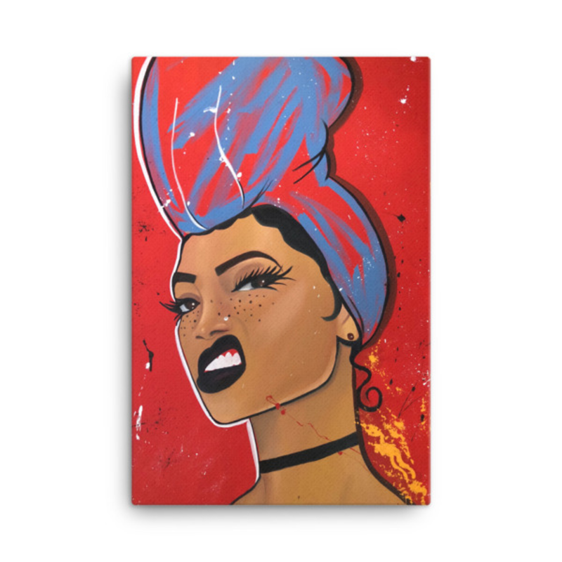 Image of Try Me LS Canvas Print