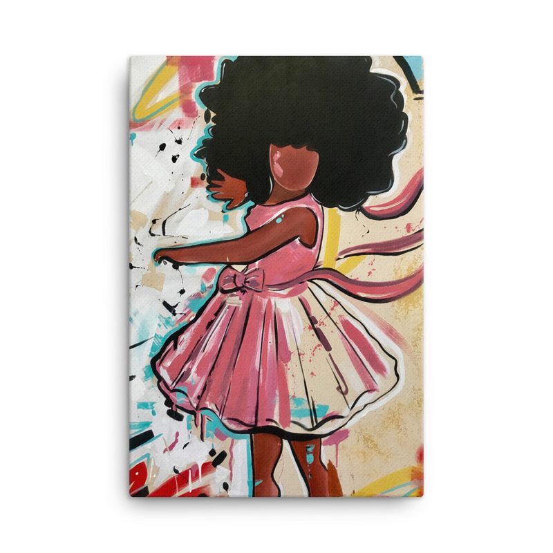 Image of Baby Girl Canvas Print