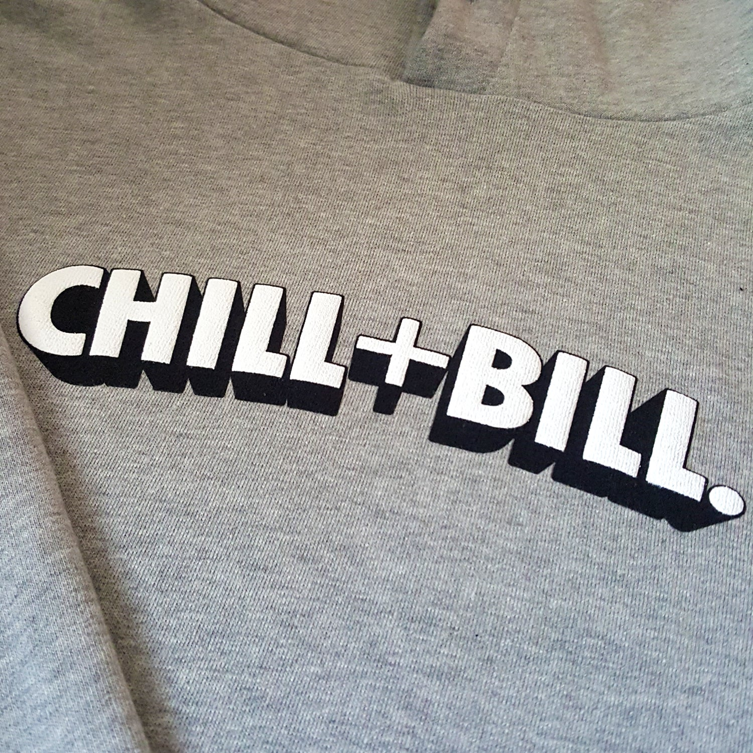 Image of Chill+Bill 3D Hoodie in Tracksuit Grey
