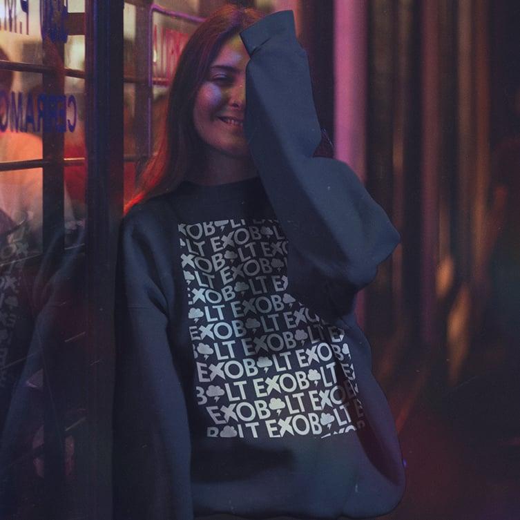 Image of Exobolt 'Lotsobolt' Logo Crewneck Sweatshirt