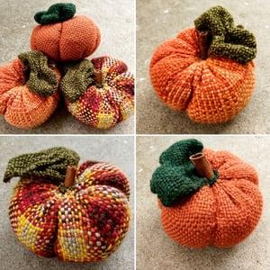 Image of Pumpkin, Soft Sculpture, Handwoven