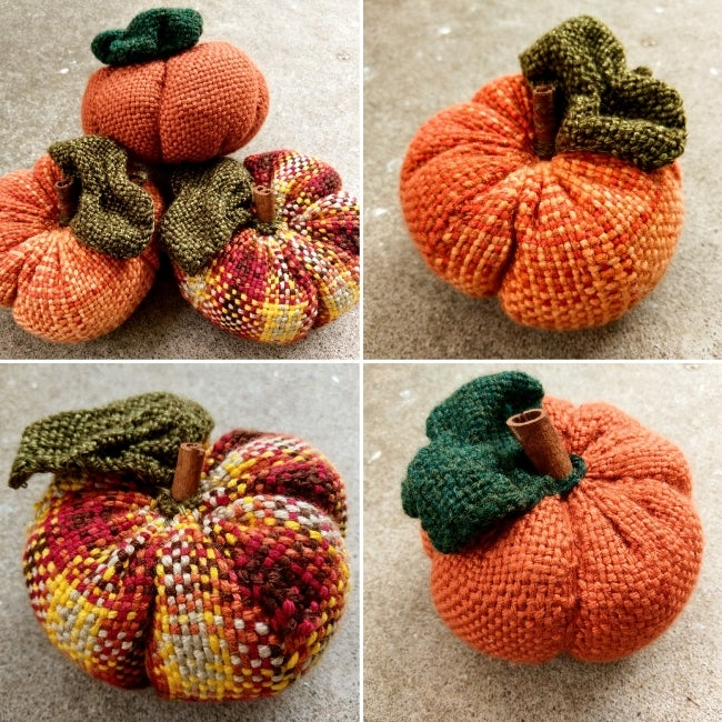 Image of Pumpkin, Soft Sculpture, Handwoven
