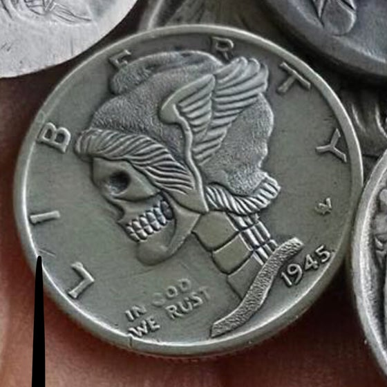Image of Mercury Dime Skull