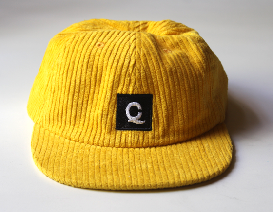 Image of Corduroy Square Logo Cap - Yellow