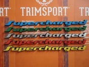 Image of Trimsport VW Golf Corrado G60 Supercharged Rear Badge 200mm