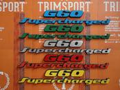 Image of Trimsport VW Corrado G60 Supercharged 200mm OEM Size Rear Badge Set