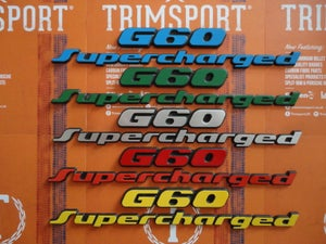 Image of Trimsport VW Corrado G60 Supercharged 200mm OEM Size Rear Badge Set