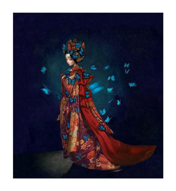 Image of Flying butterflies Embellished