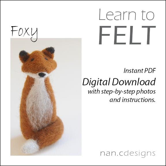 Image of PDF Fox Felting Instructions