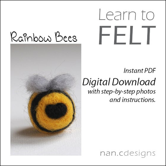 Image of PDF Rainbow Bees Felting Instructions