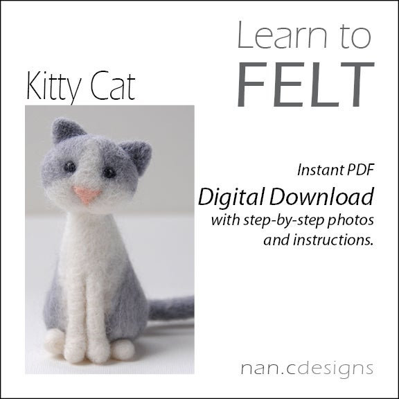 Image of PDF Cat Felting Instructions