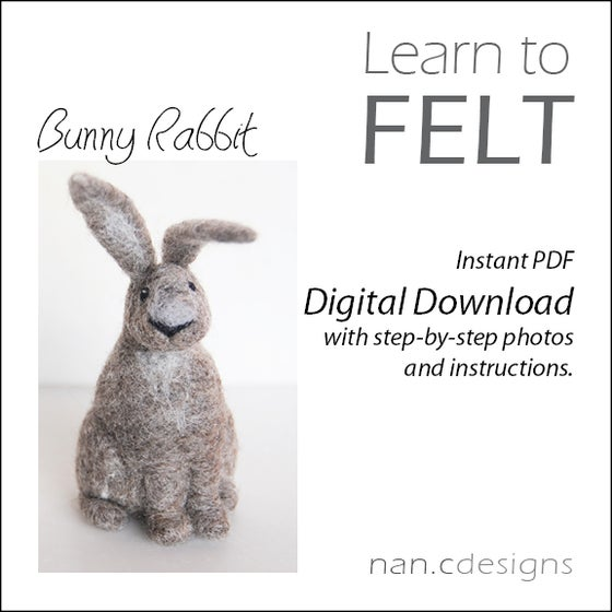 Image of PDF Bunny Felting Instructions