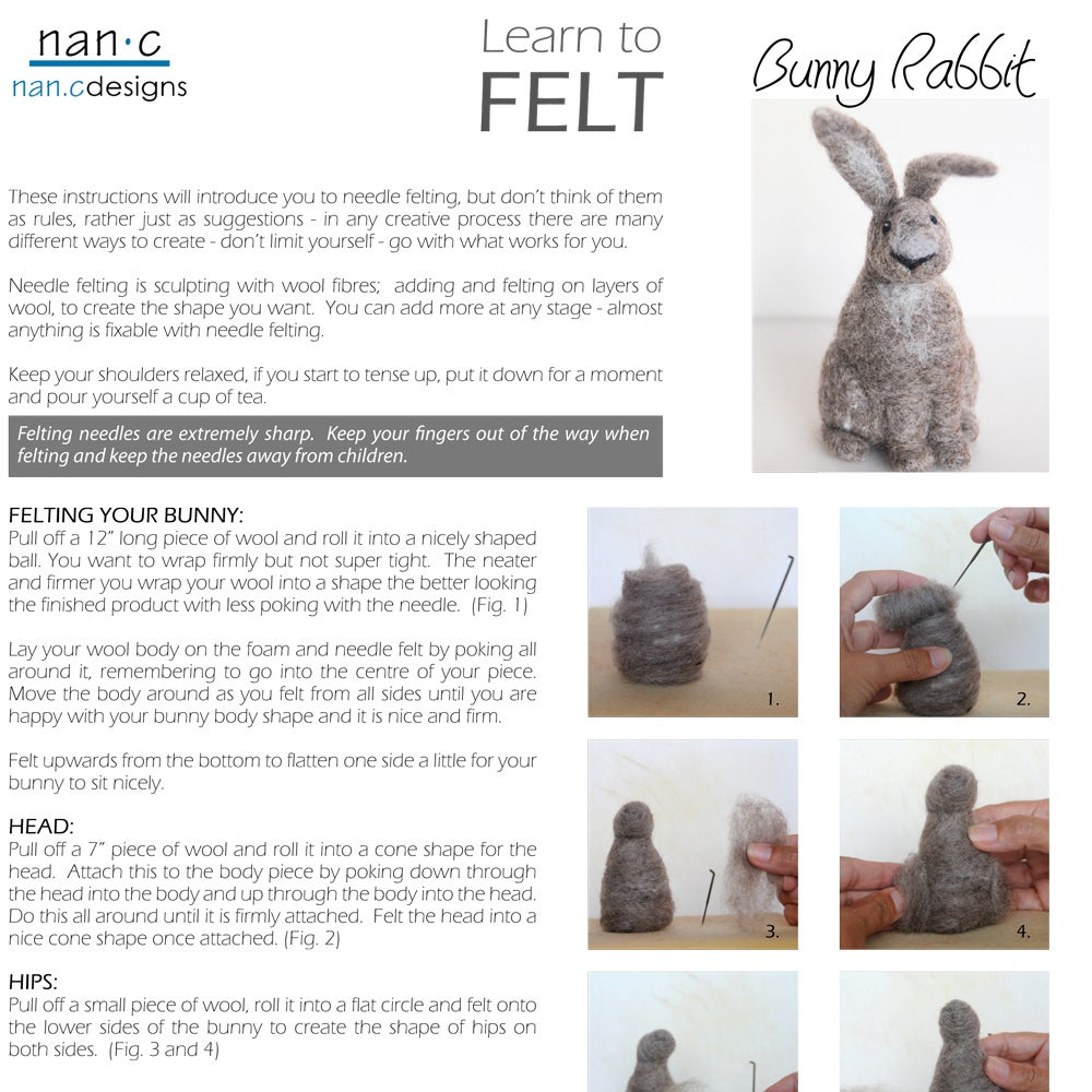 PDF Bunny Felting Instructions