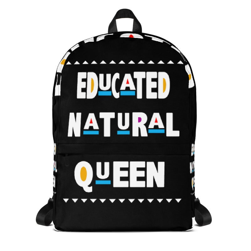 Image of Limited Edition: Educated Natural Queen Backpack (Black)
