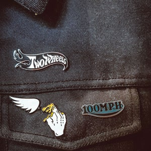Image of Two Wheels Jacket Pin