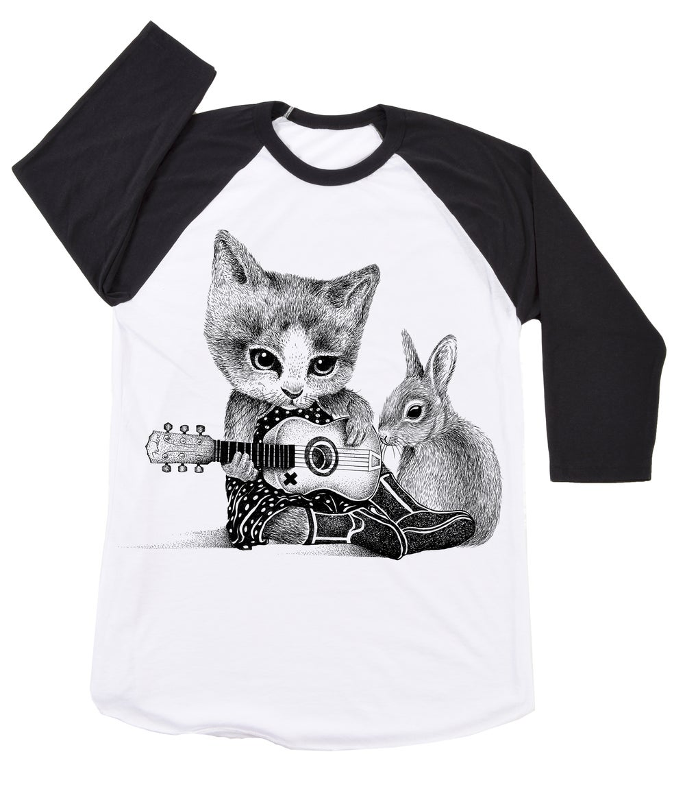 Image of Johnny Cat Basebal Tee