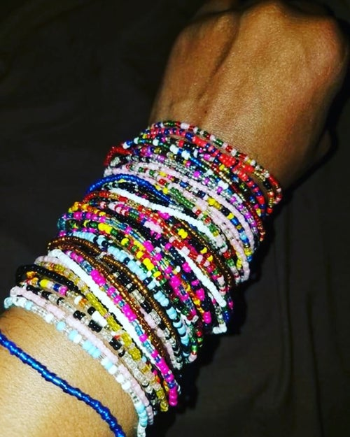Image of Seed bead bangles 1 for 1.00 each**** sale 25 mix bundle $15.00/ 50 bundle mix $30.00*