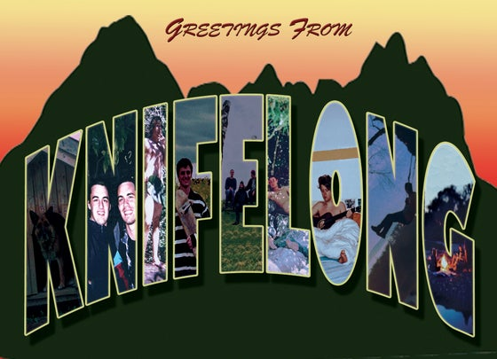 "Image of Knifelong ""Greetings From"" Flexi Postcard"