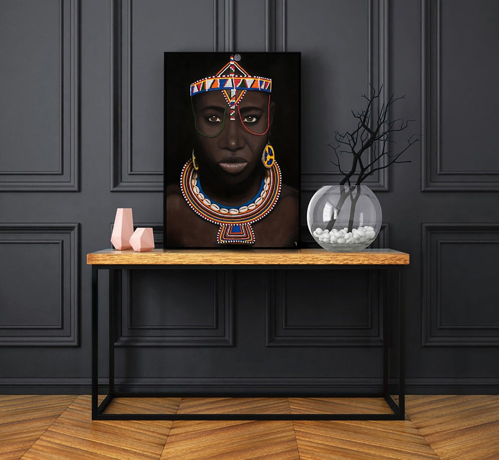 "Image of  ""Maasai Princess"" Original Painting"