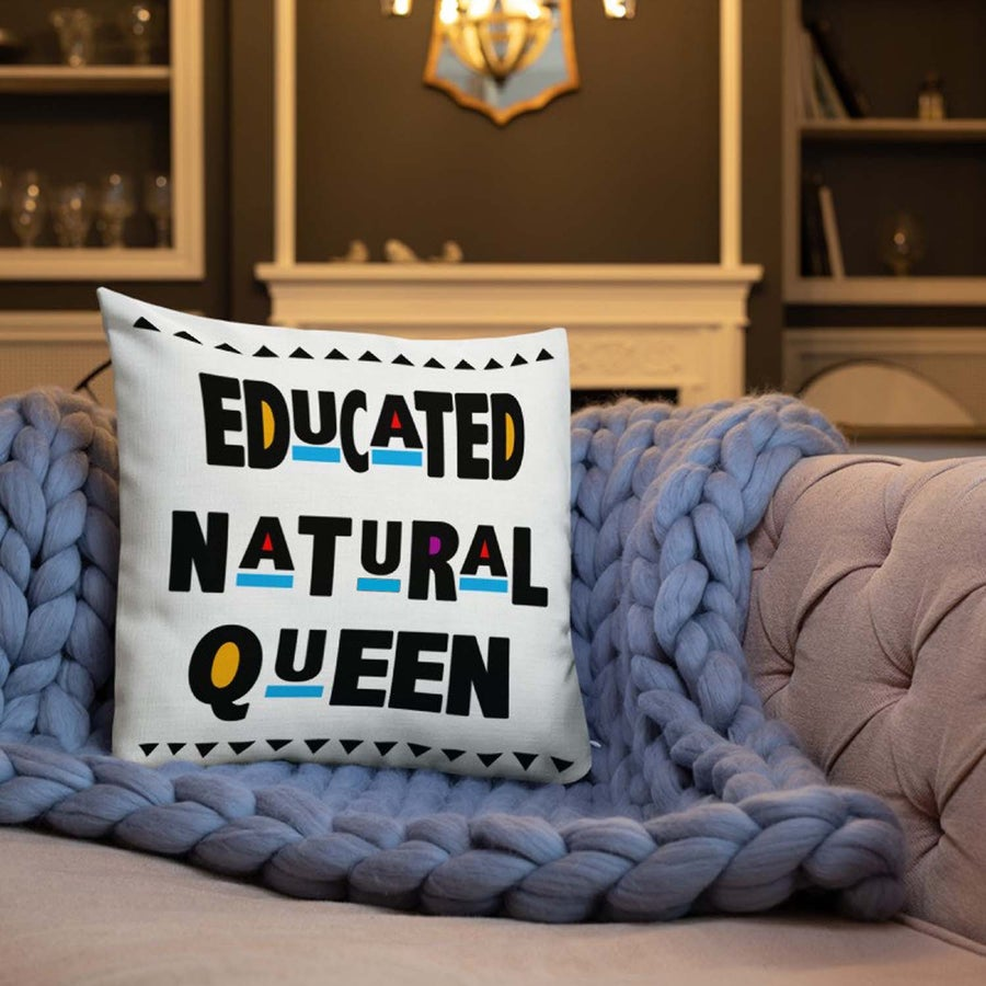 Image of Limited Edition: Educated Natural Queen Pillow