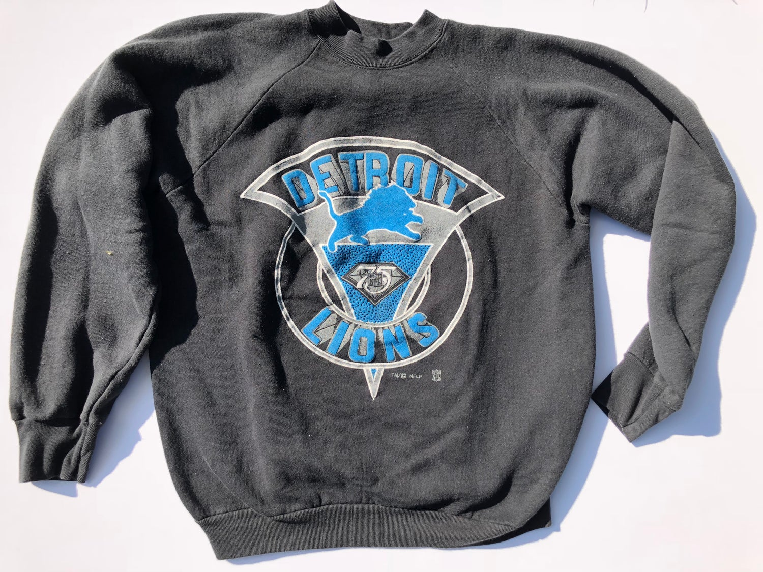 buy popular 915b0 806c4 Vintage Detroit Lions Crew Neck - XL