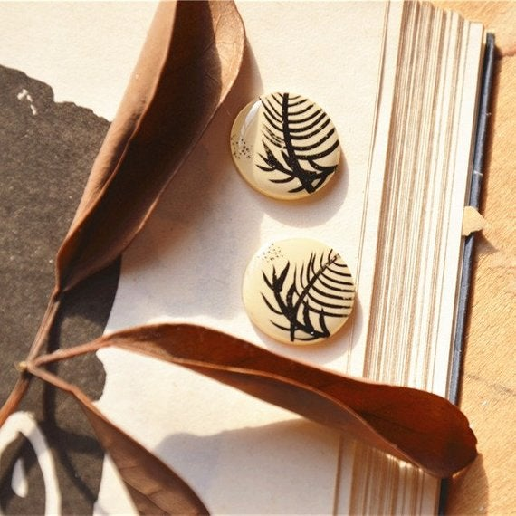 Image of Handmade Illustrated Earrings - Made to Order.