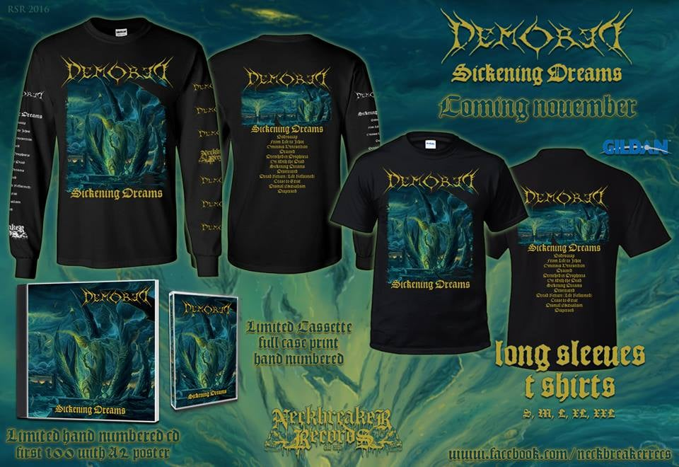 Image of NBR 008 Demored - Sickening Dreams CD +Longsleeve Bundle Preorder