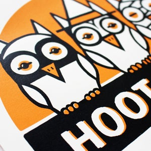 Image of Three Owls Screen Print