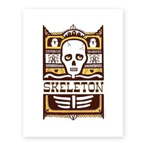 Image of Pensive Skeleton Screen Print