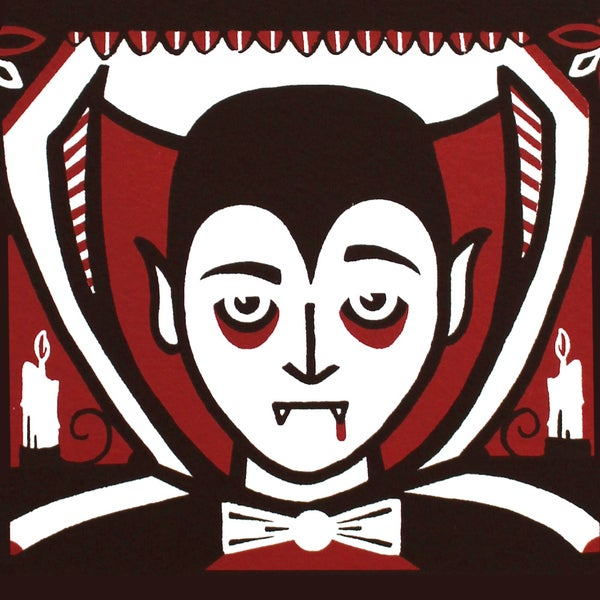 Image of Incredulous Vampire Screen Print