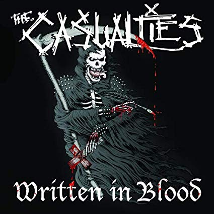 Image of * NOW SHIPPING * The Casualties - Written In Blood LP (red or splatter vinyl)