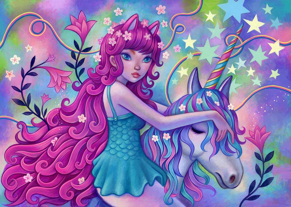 "Image of ""Unicorn Ride"" <br>Original Painting <br>by Jeremiah Ketner"