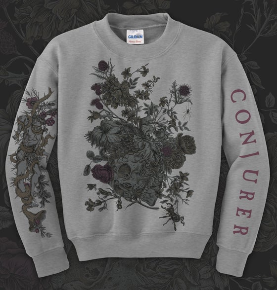 Image of 'Mire' Crewneck Sweatshirt - Black / Grey