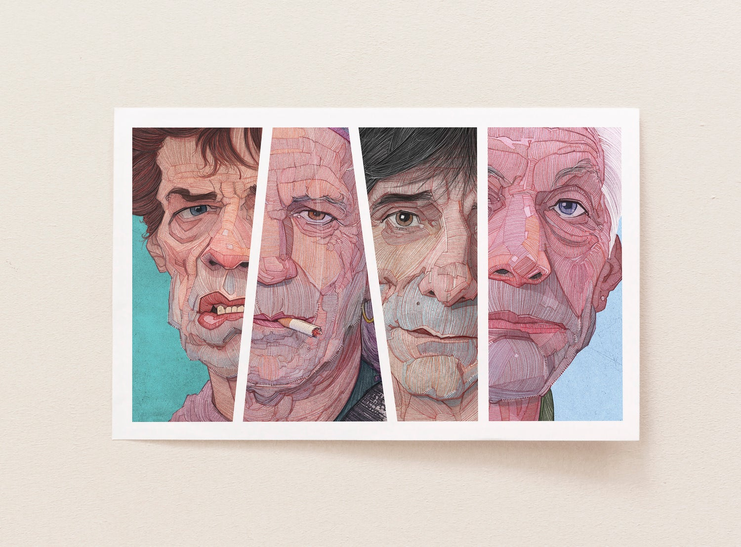 Image of The Rolling Stones illustration