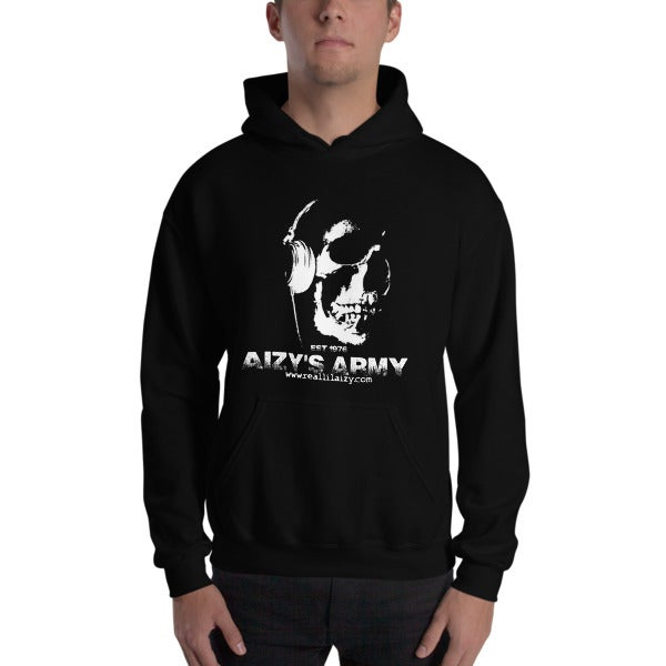 Image of AIZY'S ARMY HOODIE  BLACK