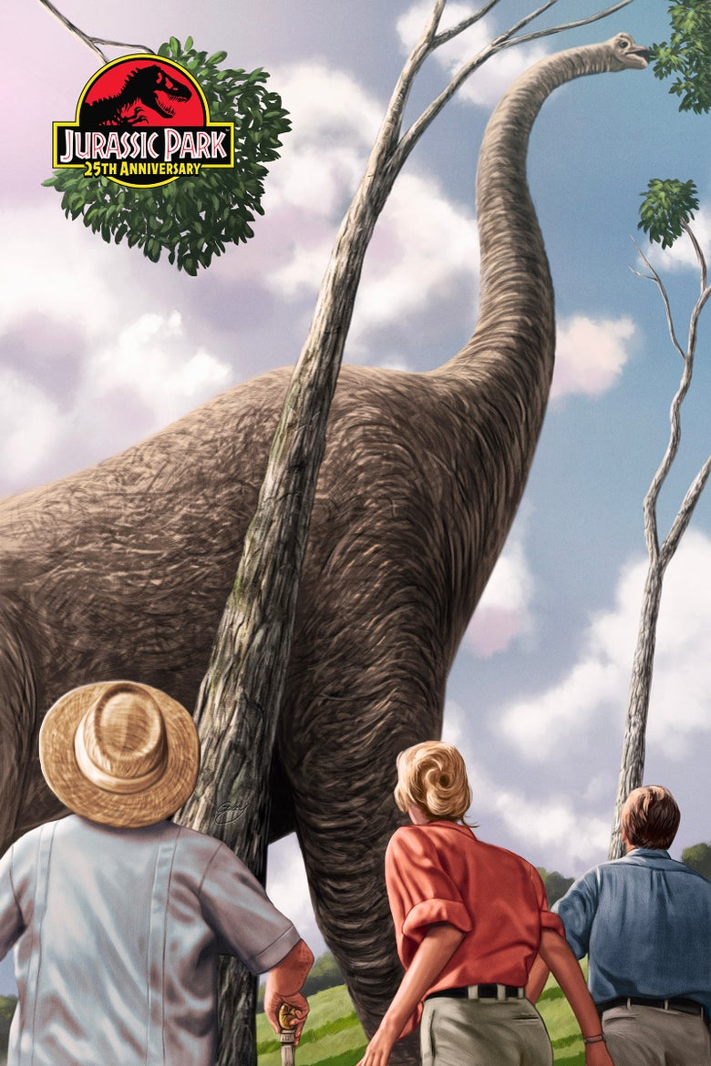"""Image of Jurassic Park 16"""" x 24"""" (officially licensed artist proof copies)"""