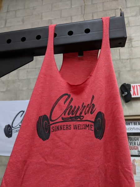 Image of Red Women's Raceback Tank