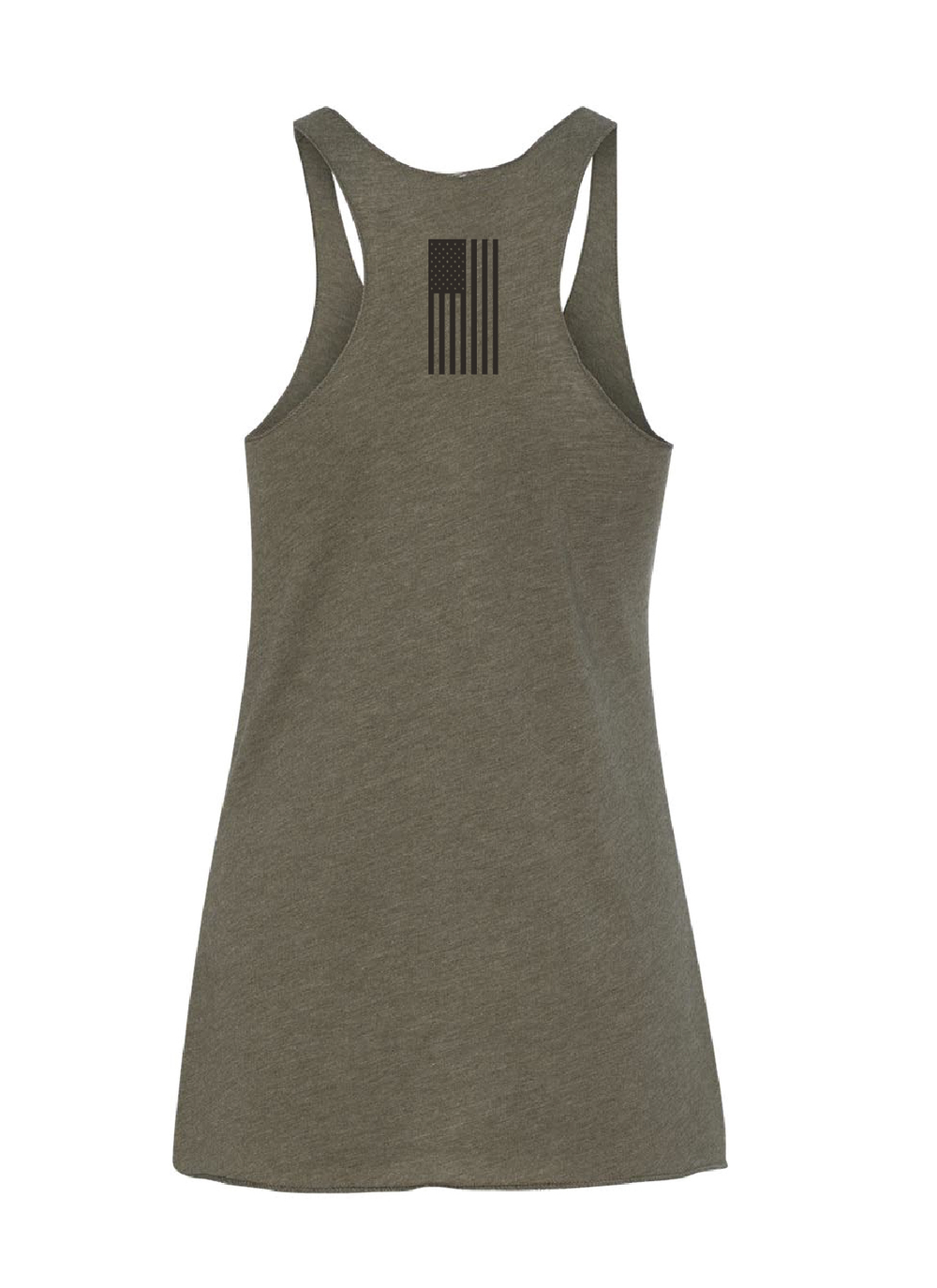 """Image of LIMITED EDITION: """"X"""" Military Green Racer Back Tank"""