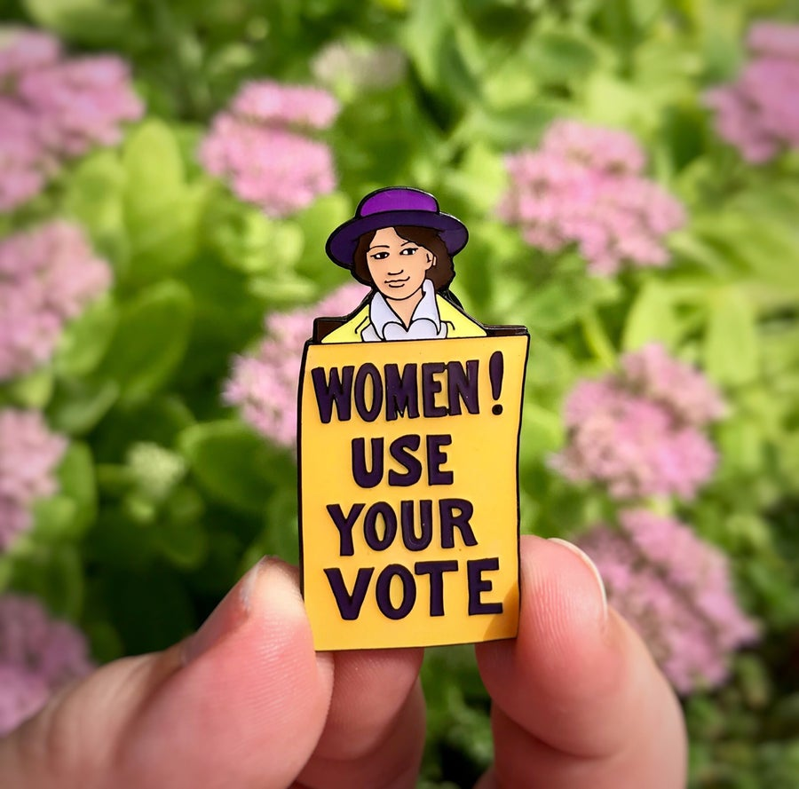 Image of Suffragette Lapel Pin