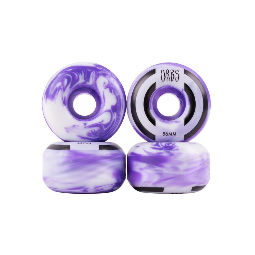 Image of Apparitions Swirls - 56mm - Purple/White