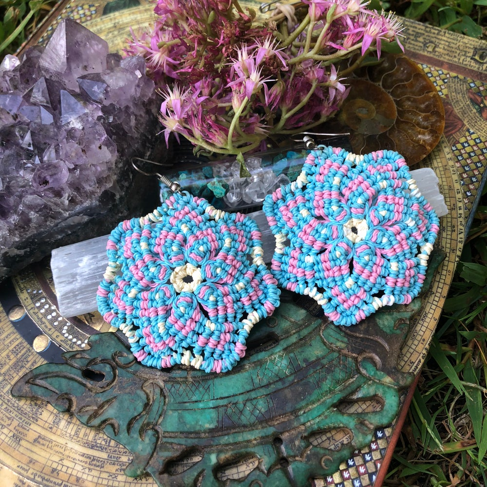 Image of Macrame Mandala Earrings