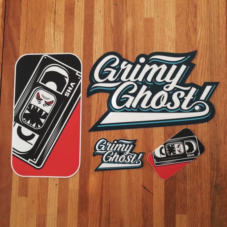 Image of Grimy Ghost! Sticker Pack!