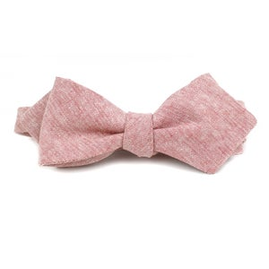 Image of Blush Linen Chambray Bow Tie