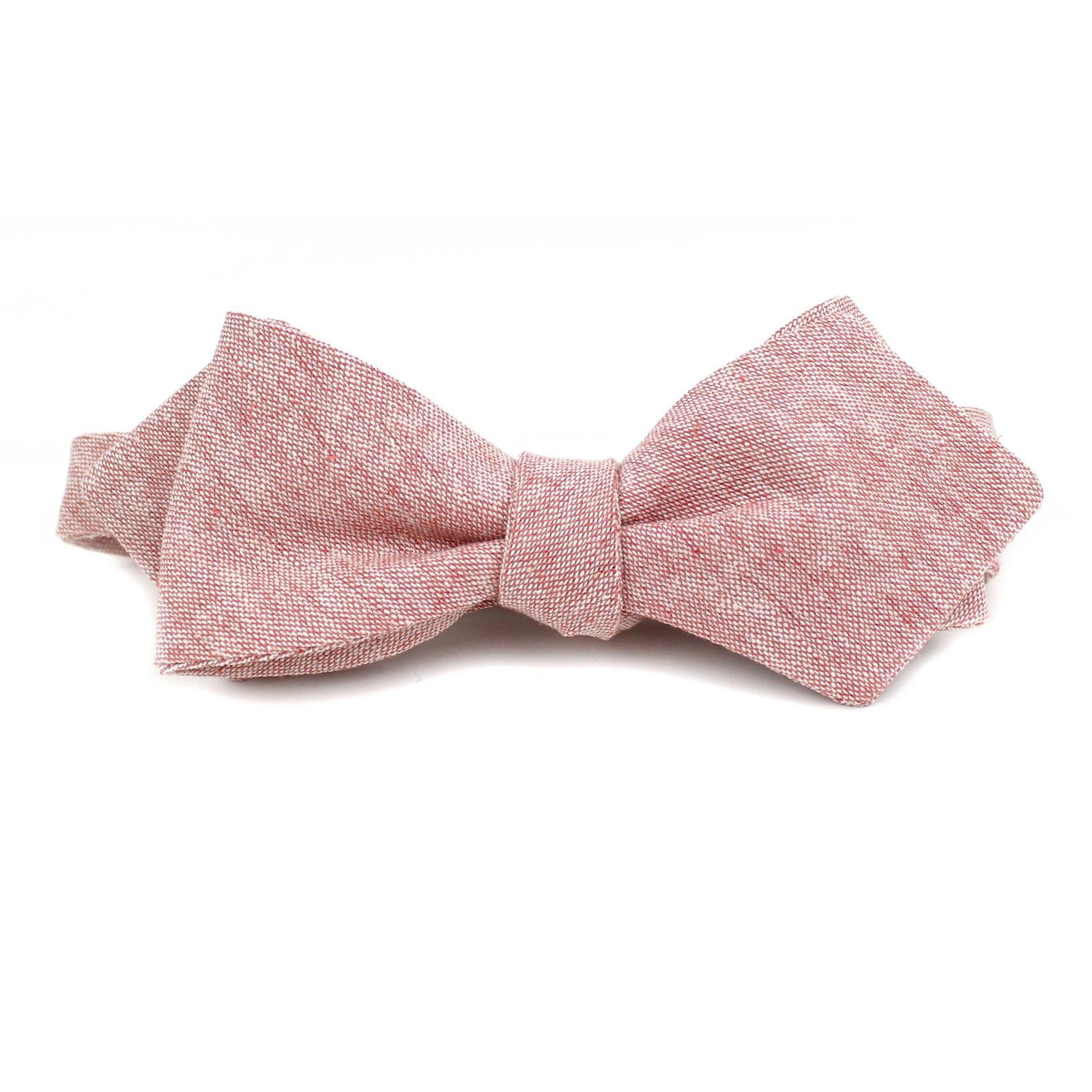 Vintage Bow Tie Pink Linen