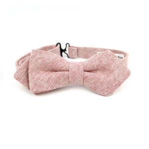 Image of Blush Linen Chambray Kids Bow Tie