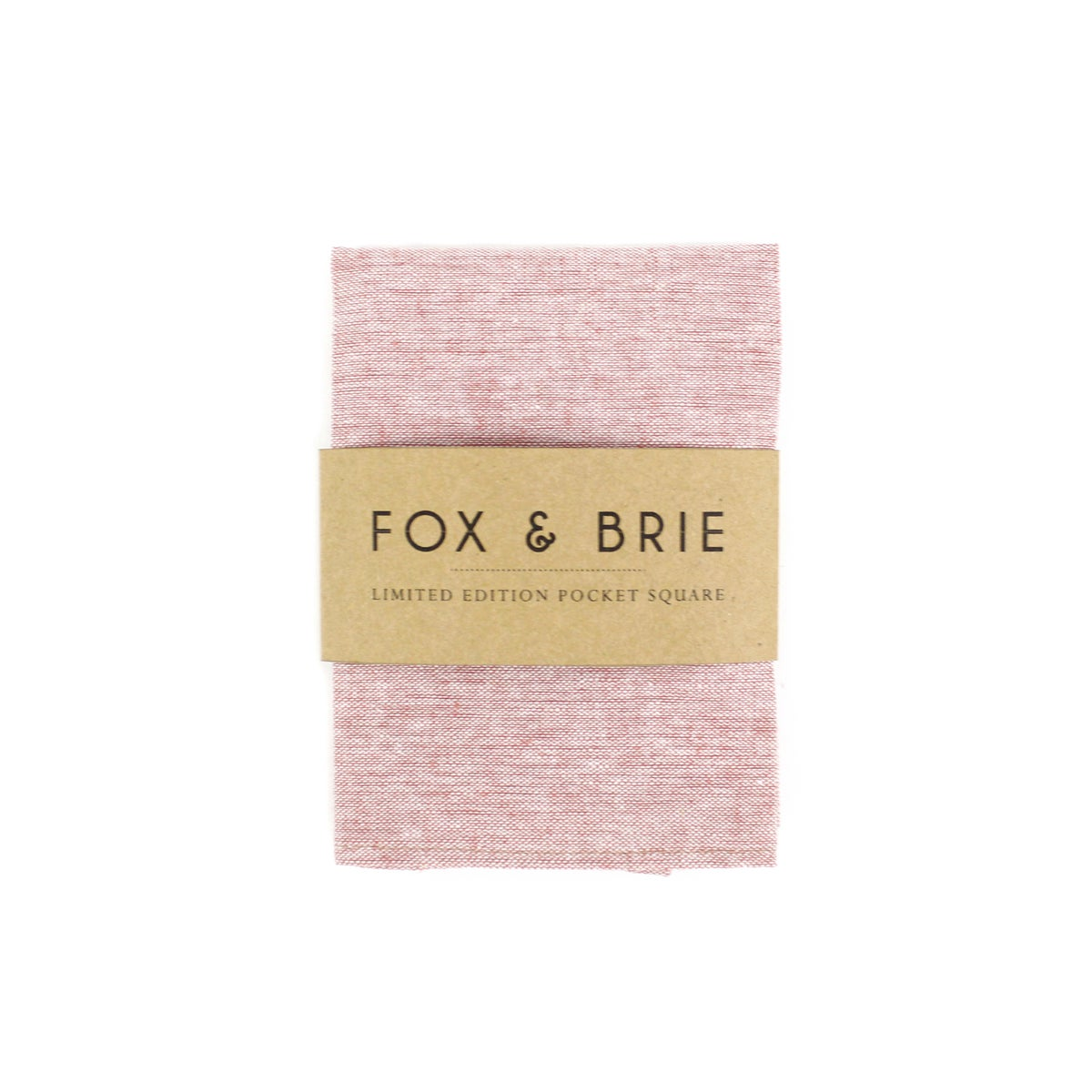 Image of Blush Linen Chambray Pocket Square