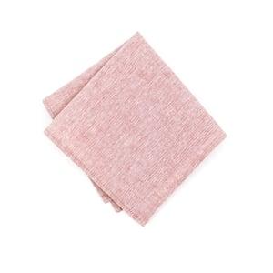 Image of Blush Linen Chambray Pocket Square