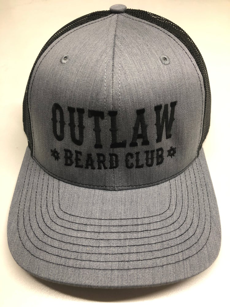 Image of OUTLAW BEARD CLUB BLK/GRY MESH SNAPBACK