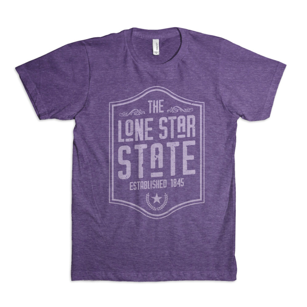 Image of Lone Star State Tee - Purple